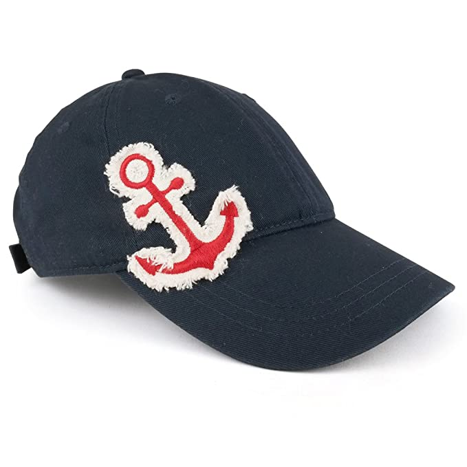 Trendy Apparel Shop Vintage Frayed Anchor Embroidered Patch Unstructured  Adjustable Baseball Cap - Navy 61d2cb66dfc