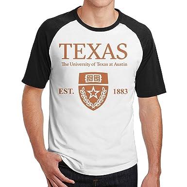 bfa1553678458e Amazon.com: QTHOO Men's University of Texas at Austin Established 1883 O  Neck Short Sleeve Raglan Baseball T Shirt: Clothing