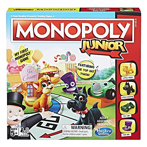 (Hasbro Monopoly Junior Board Game, Ages 5 and up (Amazon Exclusive))