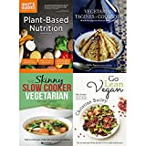 img - for Plant based nutrition, vegetarian tagines and couscous [hardcover], slow cooker vegetarian recipe book and go lean vegan 4 books collection set book / textbook / text book