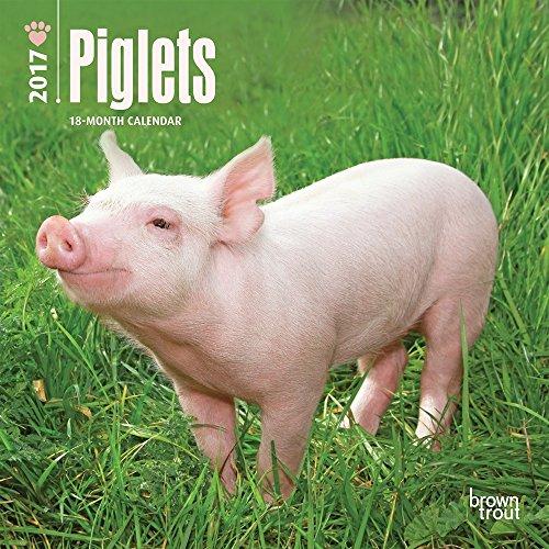 Free Piglets 2017 Small Wall Calendar