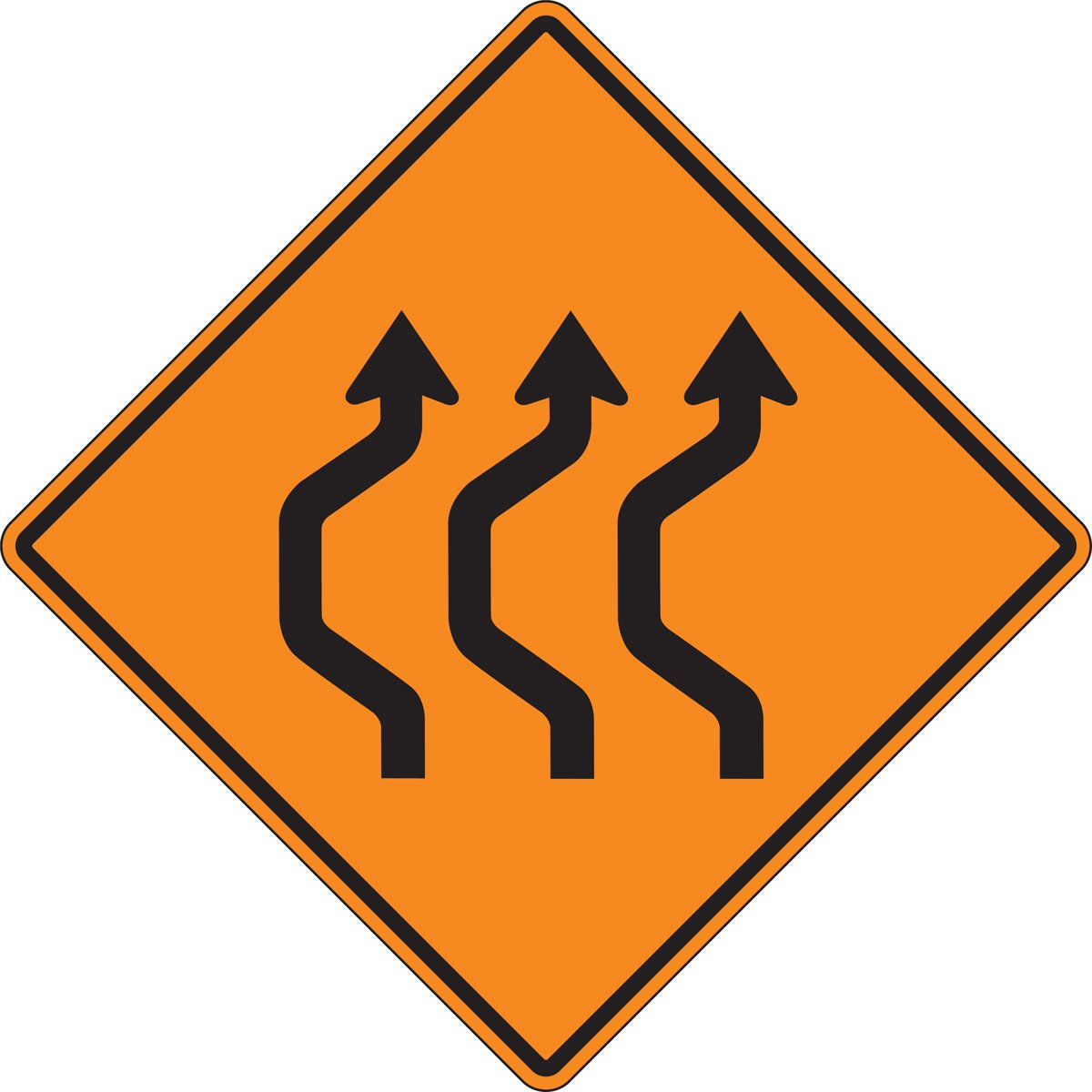 Accuform (THREE LANE DOUBLE REVERSE CURVE) (FRK237DP)