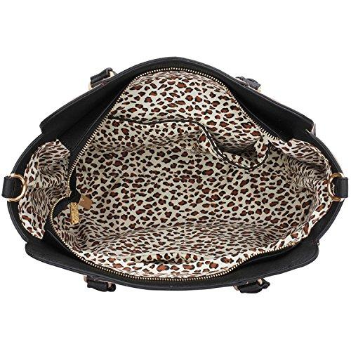 Xardi London monocromatico multi donne borse a tracolla da donna in pelle sintetica design Grab Bags Black/Nude Style 1