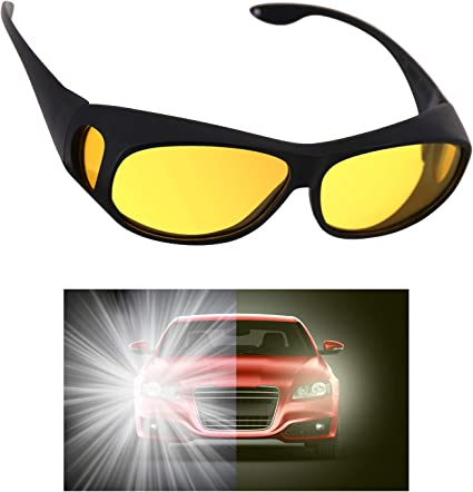 HD Night Vision Polarized Goggles Anti-Glare Eye Glasses for Driving Cycling