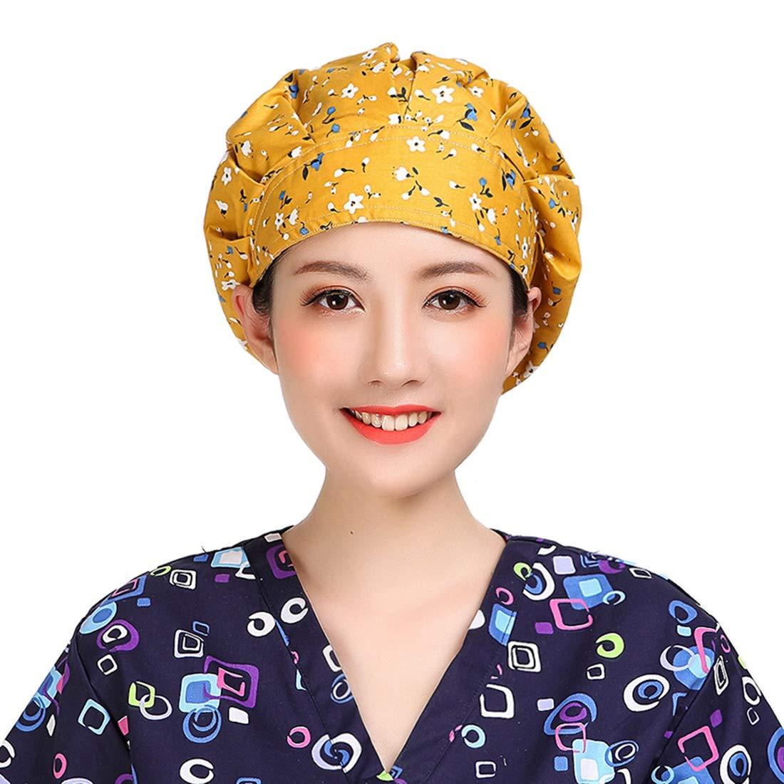 YUENA CARE Scrub Caps Surgical Cap Women Surgery Hats Nurse Doctor Sweatband Hat