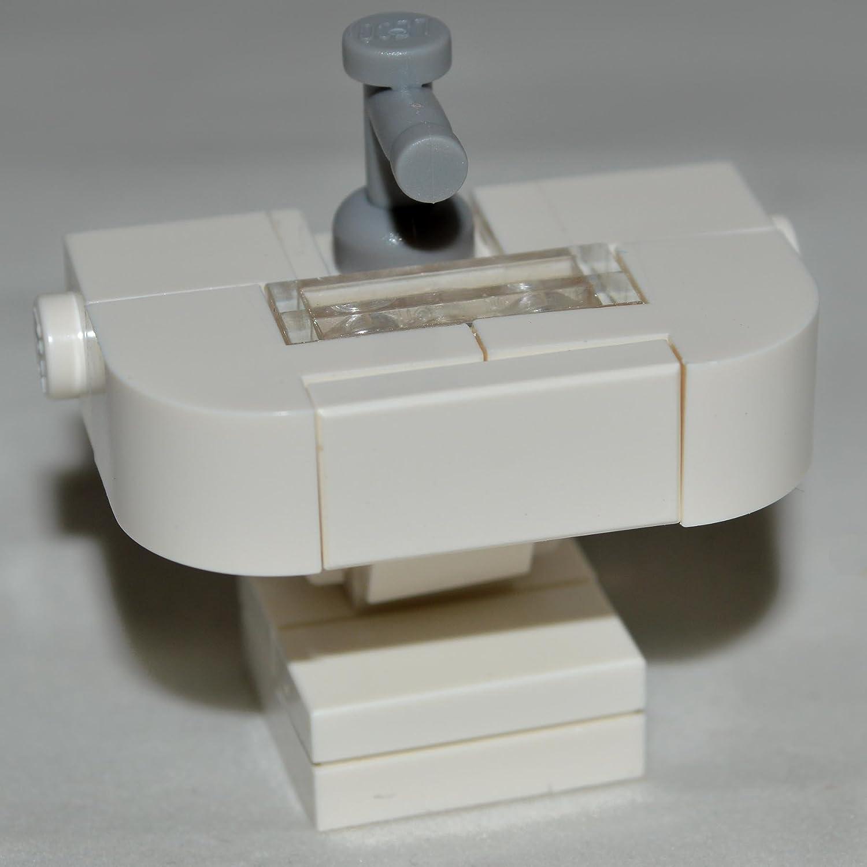 Chic Lego Furniture Bathroom Sink White Custom Set With Parts