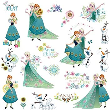 RoomMates RMK3015SCS Disney Frozen Fever Peel U0026 Stick Wall Decals, 19 Count Part 29