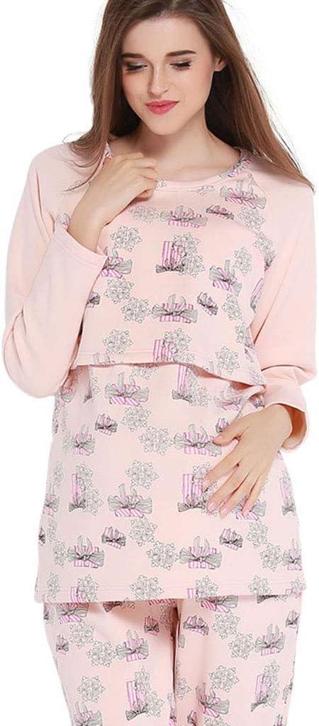 Pijamas Pijamas Mujeres Embarazadas de algodón Ropa de Dormir ...