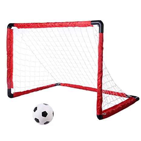914052911 Image Unavailable. Image not available for. Color: Yamix Portable Folding  Kids Soccer Goal ...