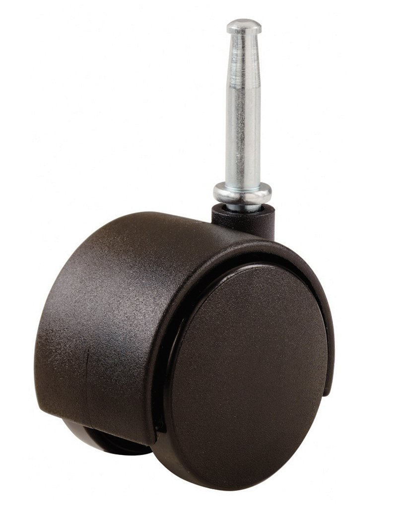 Casters wood stem furniture casters metal furniture casters - Shepherd Hardware 9417 2 Inch Office Chair Caster Twin Wheel 1 1 2 Inch Sq Plate 75lb Load Capacity 2 Pack Chair Casters Amazon Com