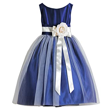 9bf2df4ed Amazon.com  Sweet Kids Royal Blue Tulle Special Occasion Dress Baby ...
