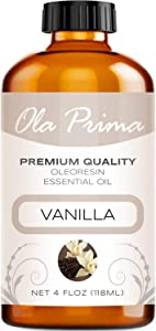 Ola Prima 4oz - Premium Quality Vanilla Essential Oil (4 Ounce Bottle) Therapeutic Grade Vanilla Oil