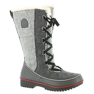 Sorel Tivoli High II Boot - Women's Dark Grey / Red Dahlia 7.5