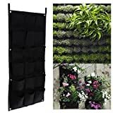 Whitelotous 18 Pockets Hanging Vertical Garden Planter Indoor Outdoor Herb Pot Decor 50100cm