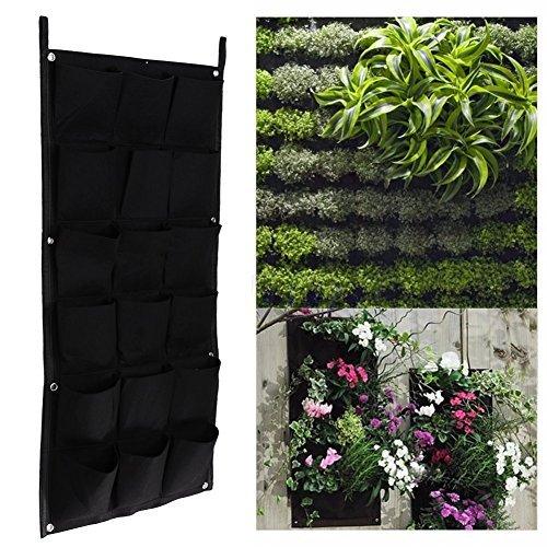 Whitelotous 18 Pockets Hanging Vertical Garden Planter Indoor Outdoor Herb Pot Decor 50100cm by Whitelotous