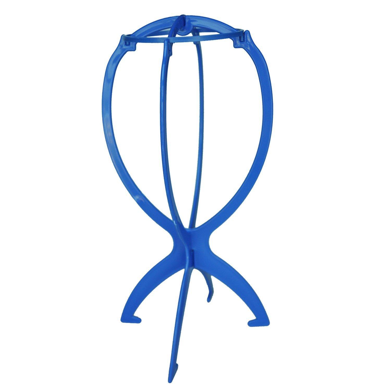Wig support - SODIAL(R)Plastic Display Support for Wig Toupee holder Color Azure SHOMAGT15639