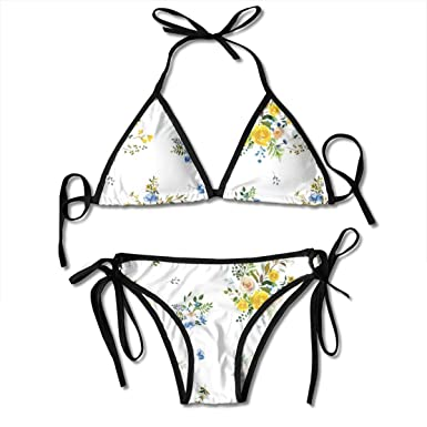 Bohemian Spring Fox Florals - Bikini de Moda de Mujer Blanca ...