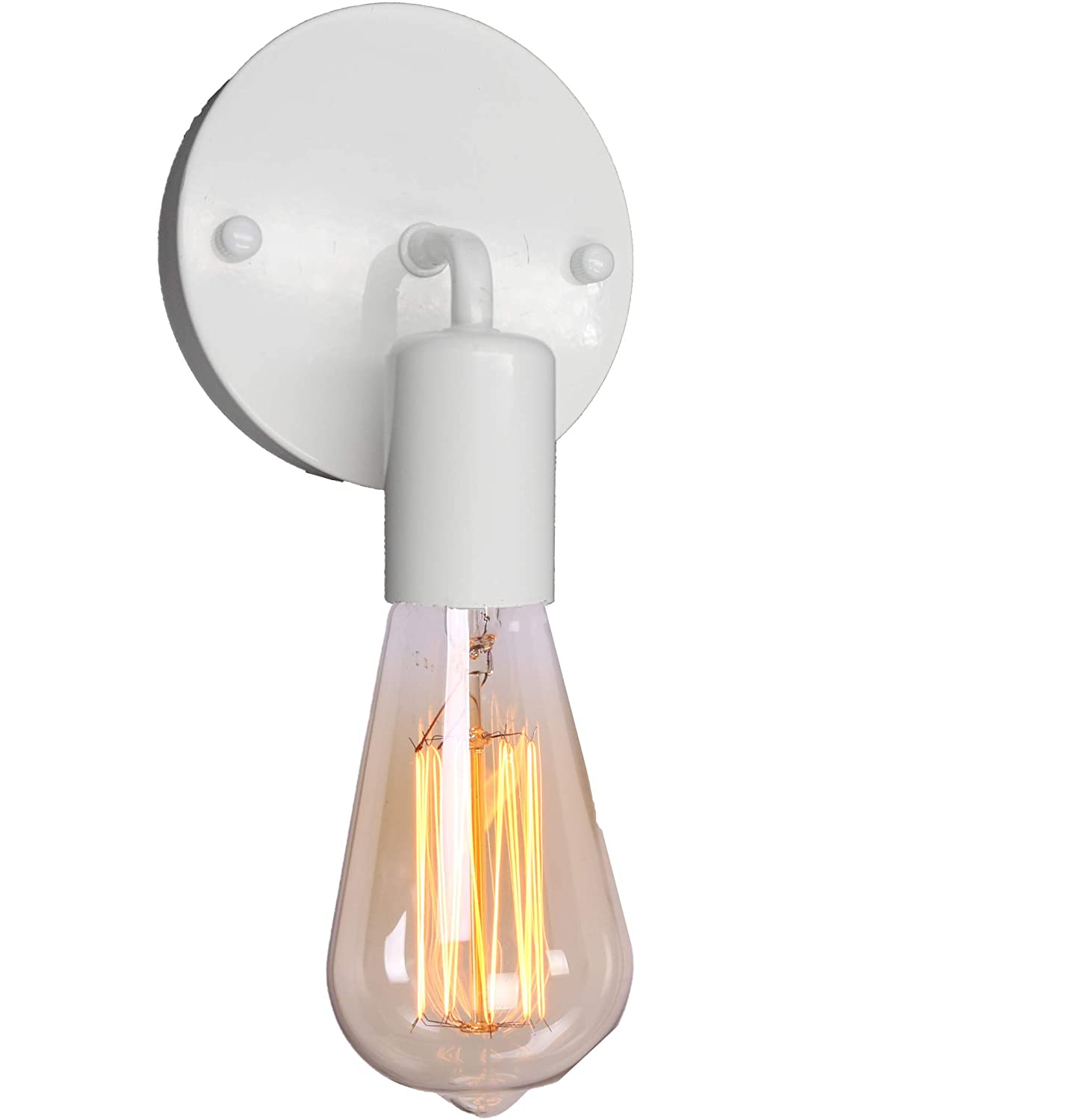 Brightess retro white wall sconce w8963 lighting gooseneck simple lights industrial vintage farmhouse wall lamp for indoor hardwired amazon com