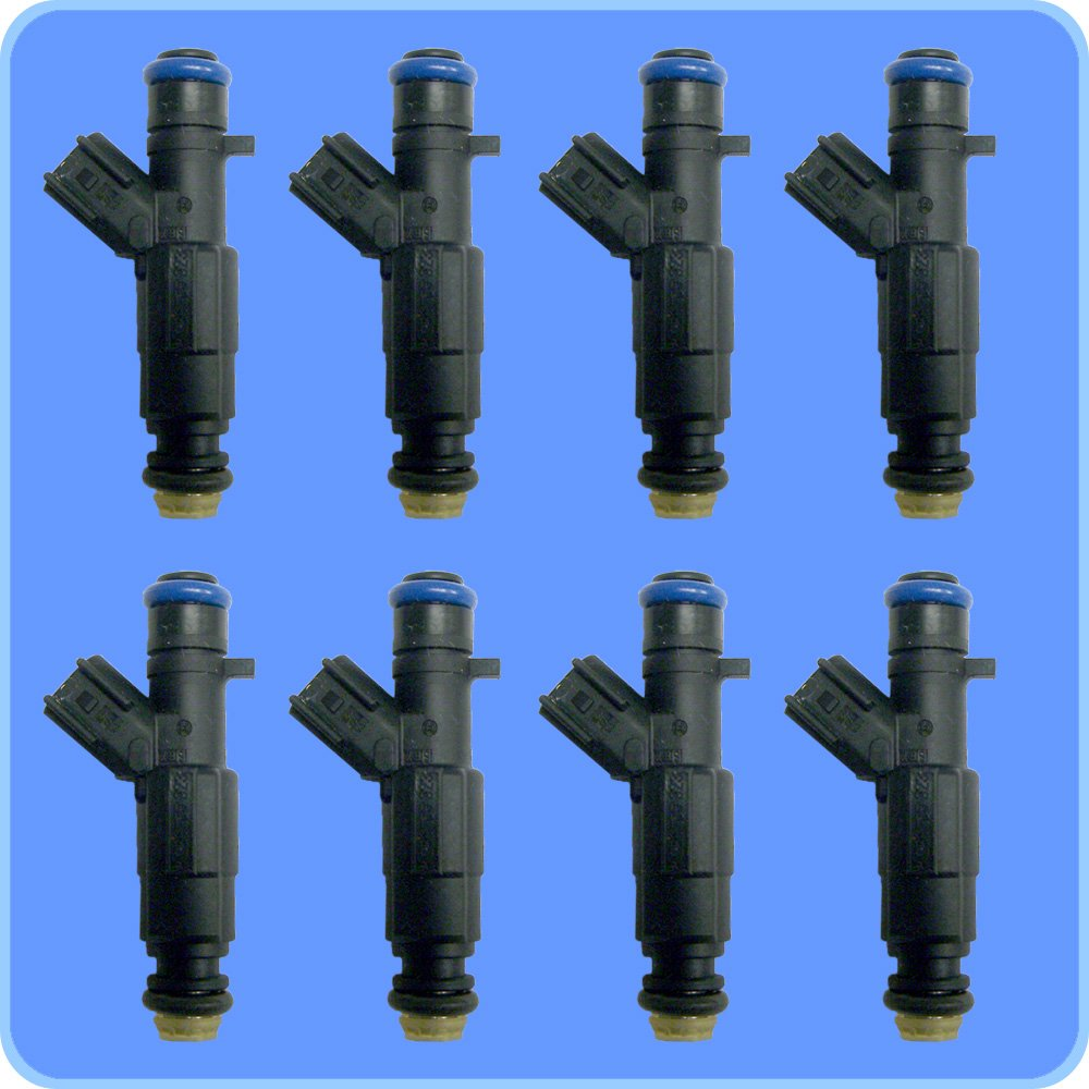 New ACDelco 12559036 GM Set of 8 Fuel Injectors For Cadillac,Oldsmobile and Pontiac 2000-2005