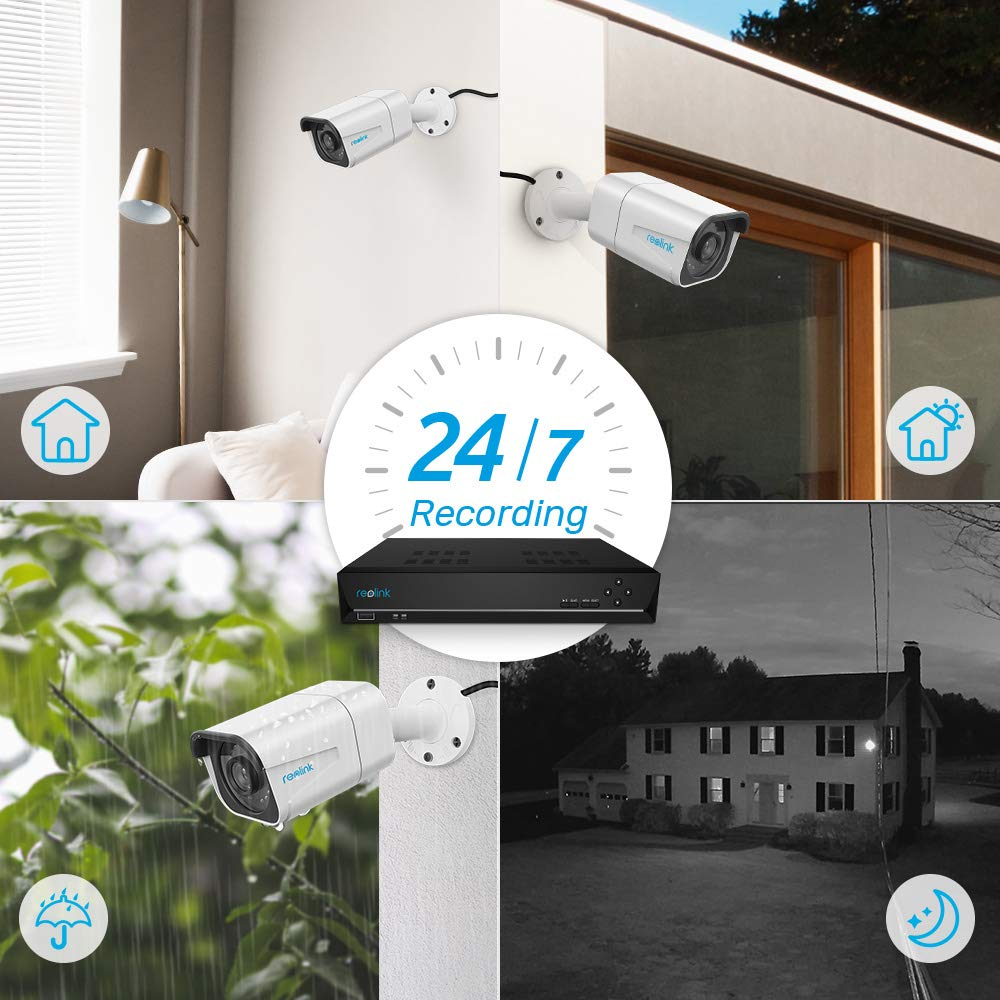 Reolink 4K Ultra HD 8CH POE Security Camera System, 4pcs Wired 8MP Outdoor PoE IP Cameras, 8MP 8-Channel NVR with 2TB HDD Video Surveillance System for 24x7 Recording RLK8-800B4 by REOLINK (Image #6)