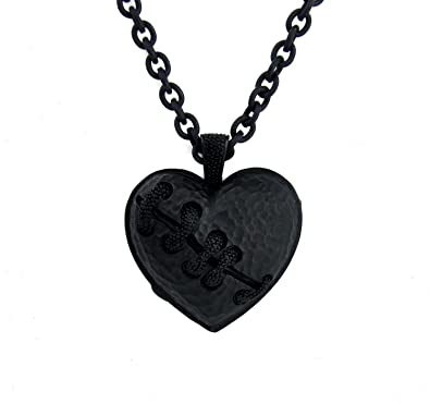 Amazon black stitch heart necklace broken eternal love gift black stitch heart necklace broken eternal love gift pendant aloadofball Choice Image