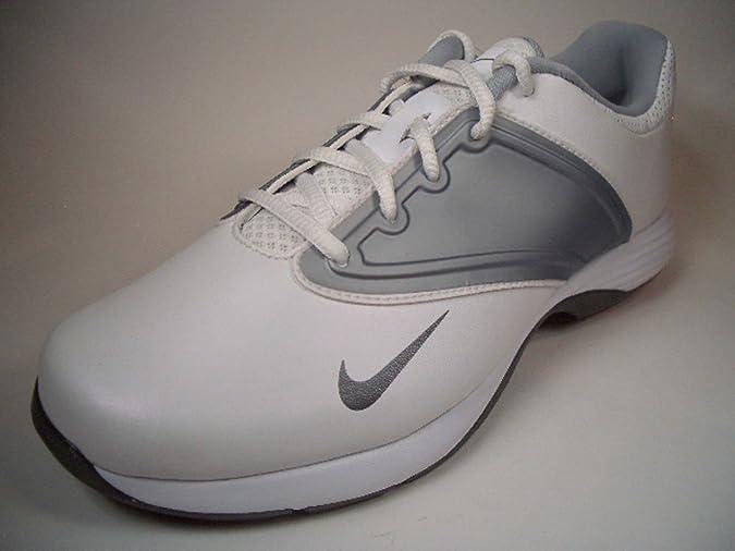 Nike Lunar Saddle Leather 612670 100 Weiß Silber Golfschuhe