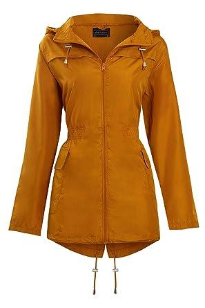 ad59da84d7e9 Amazon.com: Shelikes New Womens Hooded Mac Light Showerproof Rain ...