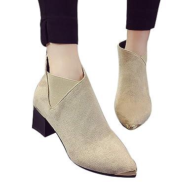 2441e9af7f6c9 Stiefel Damen Boots Mode Frauen Stiefel High Heels Schuhe Frauen  Stiefeletten Sexy Spitz Stiefel Party Schuhe