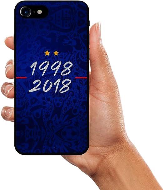 Komete Coque iPhone 5/5S/SE Foot Champion du Monde Football 2 étoiles FFF (1998-2018)