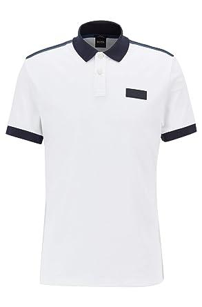 a7674d807 Amazon.com: Hugo Boss Men's Phillipson 50 Slim Fit White Polo: Clothing