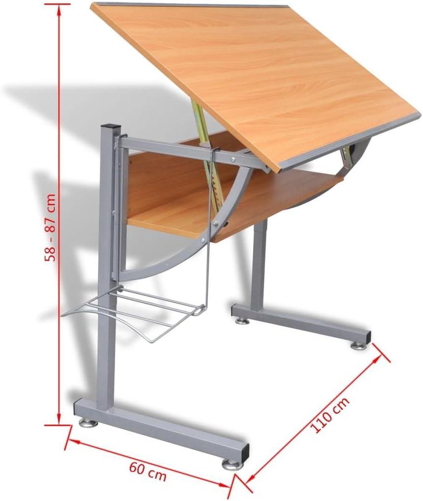 Tidyard Mesa de Dibujo para Adolescentes inclinable Altura ...