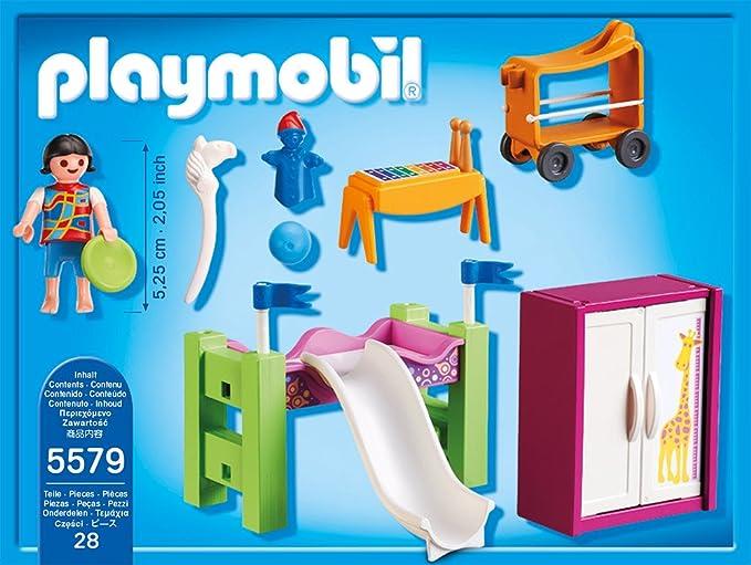 Playmobil 5579 - Kinderzimmer mit Hochbett-Rutsche: Amazon ...
