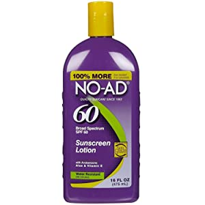 No-Ad Spf#60 Sunscreen Lotion 16 Ounce (473ml) (3 Pack)