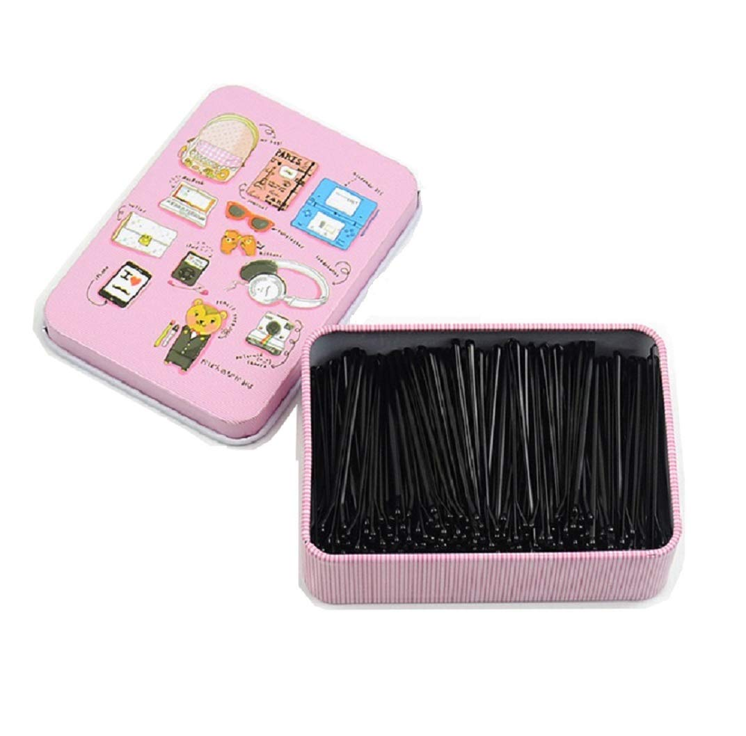 Bobby pins, Shaped Hair Pins Hair Bobby Pins Hair Styling Pins Black hair grips, Straight plate hairpin Hair Clips for Girls Kids Women Hair Accessories (200pcs) : Beauty