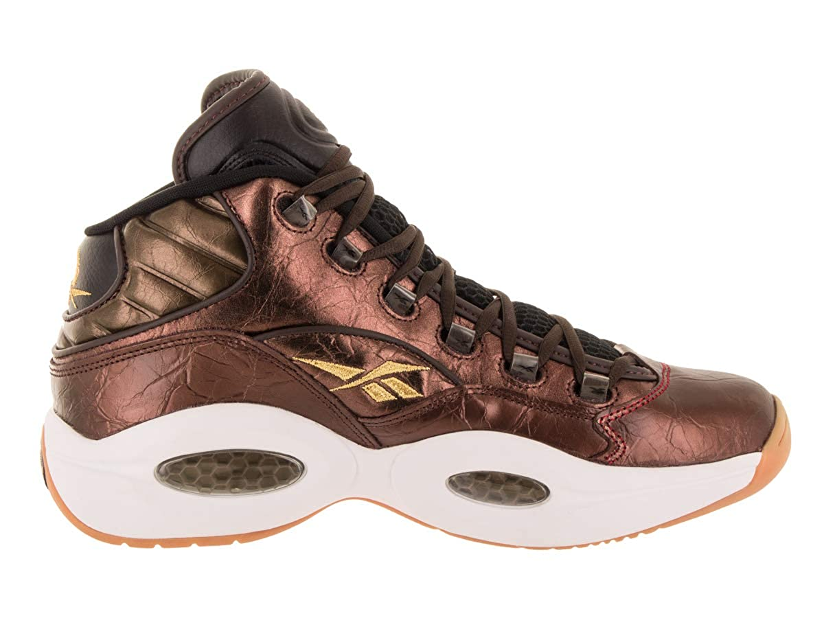 Reebok Question Mid Villa Mens Shoes Dark Brown bd5844