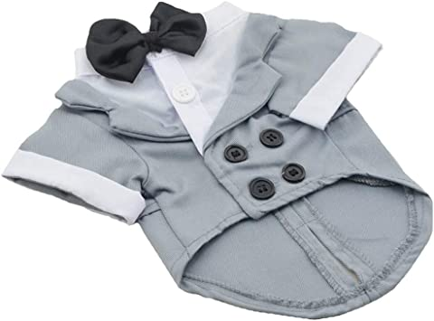 Clothes Costume Apparel Tuxedo Wedding Suit for Small Medium Large Pet Puppy Dog