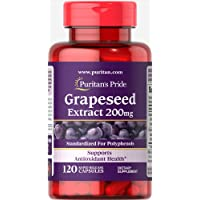 Puritan's Pride Grapeseed Extract 200mg, Capsules, 120ct