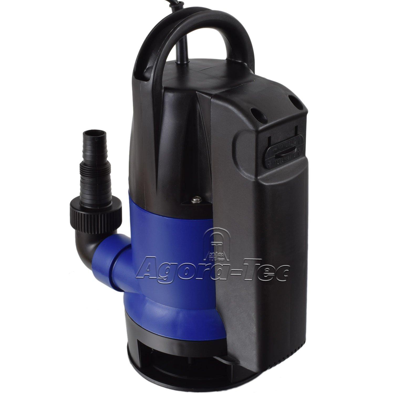 Agora-Tec - Bomba de inmersió n para Aguas sucias (con Interruptor Flotante, 0,5 Bares má ximo, 8000 L/h) 5 Bares máximo AT 001 006 001