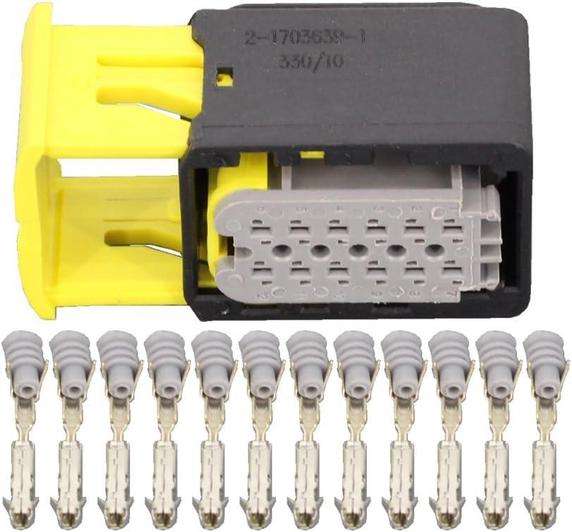 1 Set 12 Pin 2-1703639-1 Automotive Connectors Car Connectors with Terminals DJ7123-1.5-21