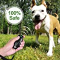 Dog Ultrasonic Trainer - Anti Barking Device Dog Bark Control Dog Training Aid 2 in 1 Ultrasonic Bark Control Dog Bark Deterrent Device W/ Anti-static Wrist Strap LED Indicate Walk A Dog for Outdoor