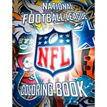 National Football League Coloring Book: NFL Team Logos and Players