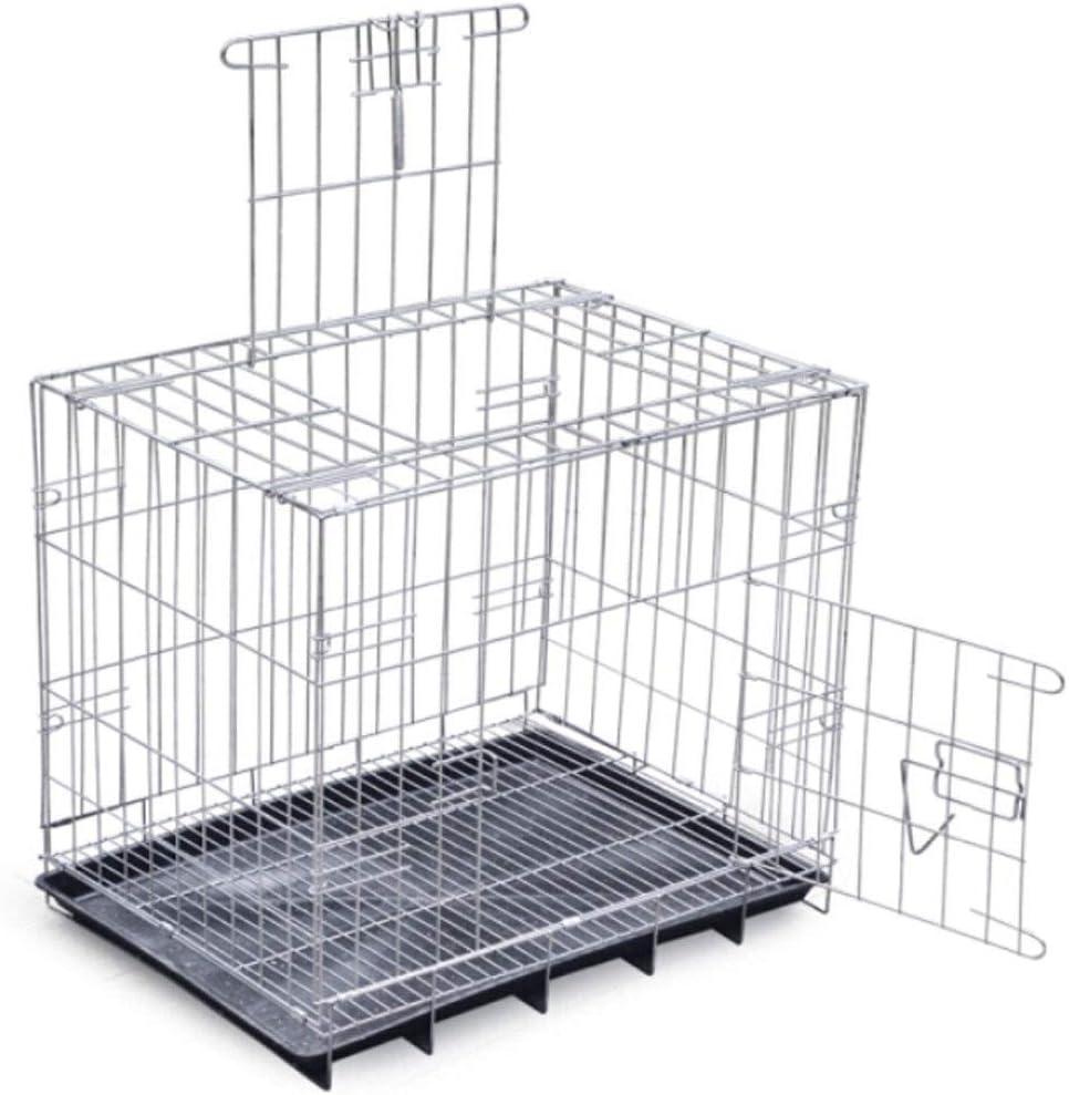 PYBHR 犬ケージ、中小犬、テディ犬ケージ、猫犬小屋太字折りたたみ、便利なフェンスペット用品 (サイズ : L)