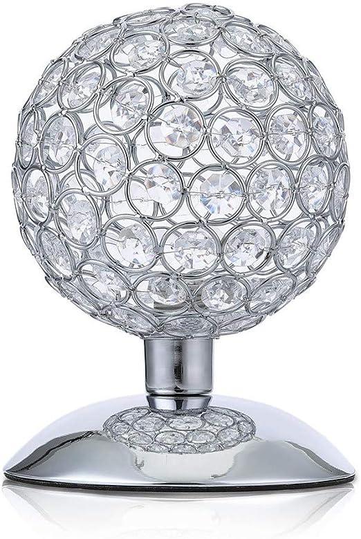 Luces de Mesa Bola de Cristal Moderna lámpara de Mesa de Noche luz ...
