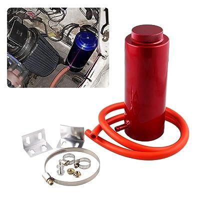 RYANSTAR Universal car Radiator Coolant Tank 800ml Coolant Expansion Tank Overflow Oil Catch Tank Cooling Catch Bottle Reservoir Aluminum Billet Red: Automotive