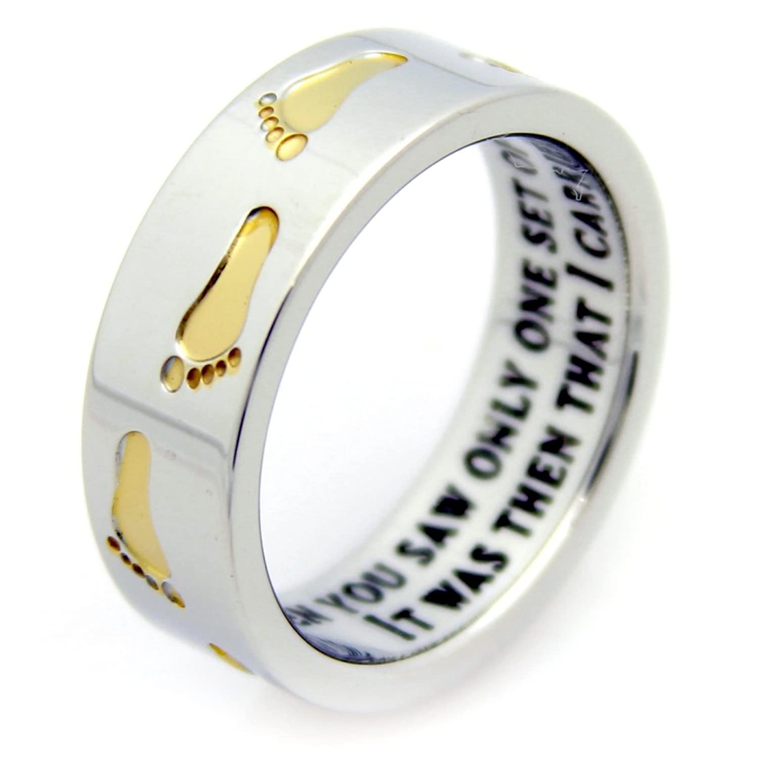 new mom wholesale gold personalized rings baby product footprint cute plated feet gift ring s mother