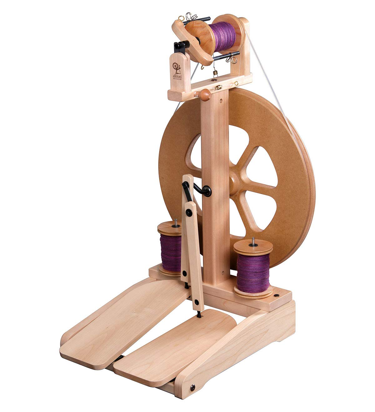 Ashford Kiwi Spinning Wheel, Double Treadle, Natural