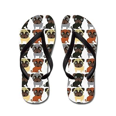 Just Pugs! - Flip Flops Funny Thong Sandals Beach Sandals