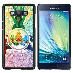 Criaturas lindas- Metal de aluminio y de plástico duro Caja del teléfono - Negro - Samsung Galaxy A5 / SM-A500
