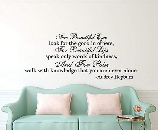 AUDREY HEPBURN wall sticker beautiful bedroom decal quote stickers art vinyl