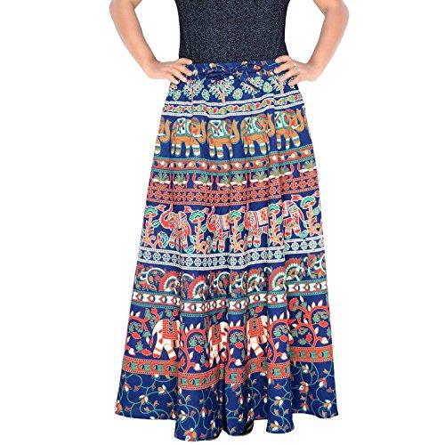 Band Rajasthani Elastic Skirt Blue Length D4 inch 36 Sttoffa F7qAIPf7